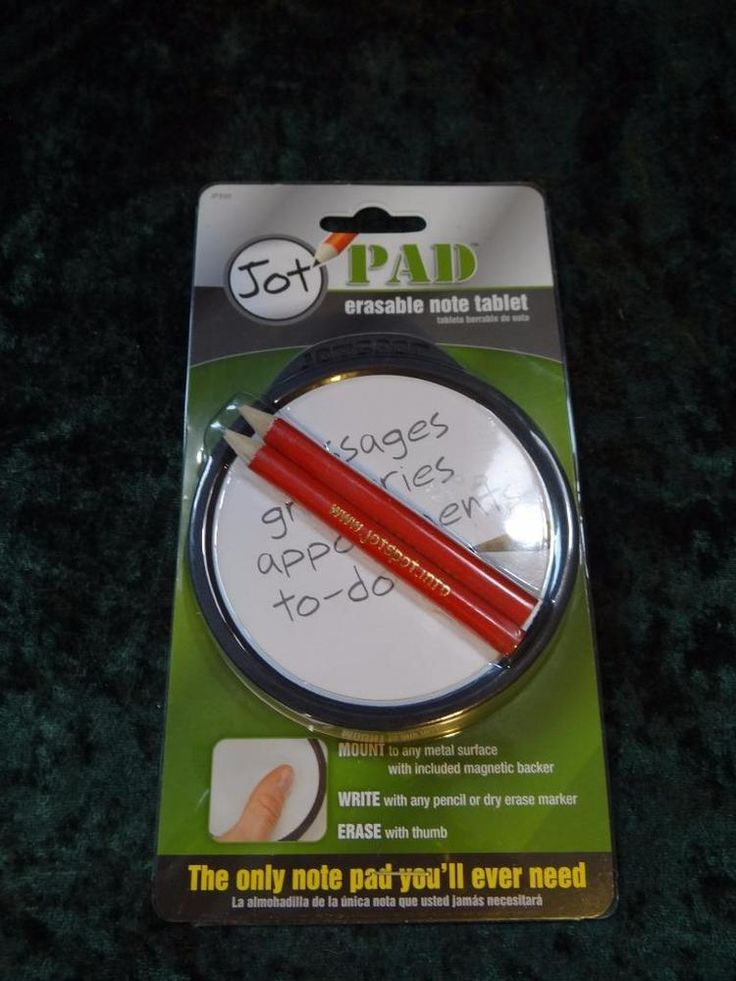 2 Pack of New PLEWS Jot Pad Erasable Note Tablets #JP350 With Pencils & Magnet #PLEWS