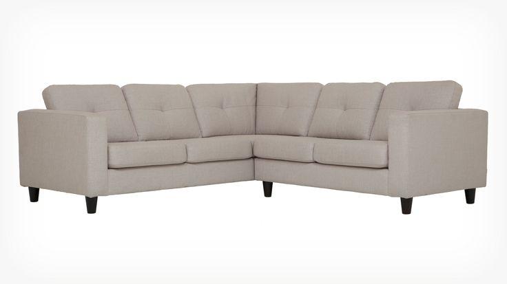 Canapé modulaire à deux pièces Solo - tissu | EQ3 Modern Furniture