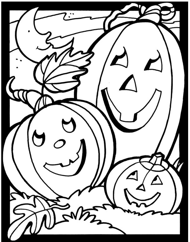 Halloween Coloring Pages  Dover Publications
