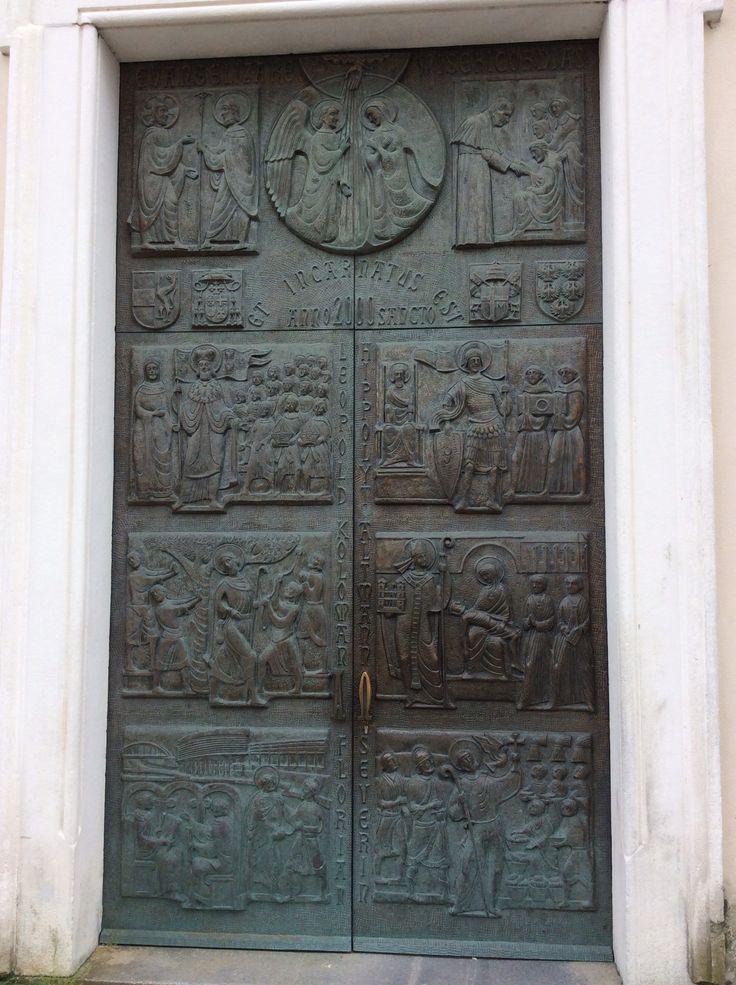 St Pölten, Austria - Door of the Cathedral