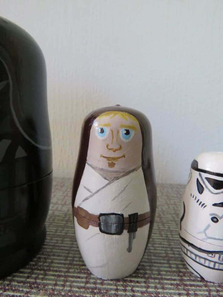 Up cycled Hand Painted Star Wars Russian dolls - Luke Skywalker