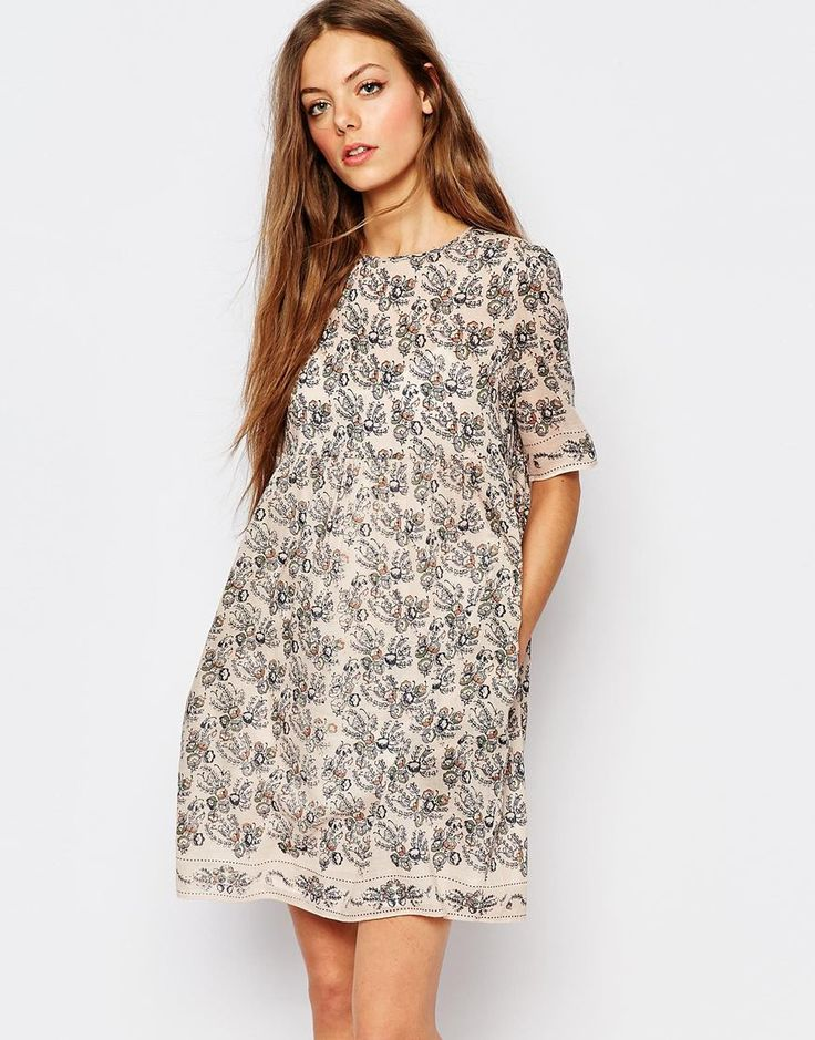 Image 1 ofVanessa Bruno Athe Printed Floral Day Dress