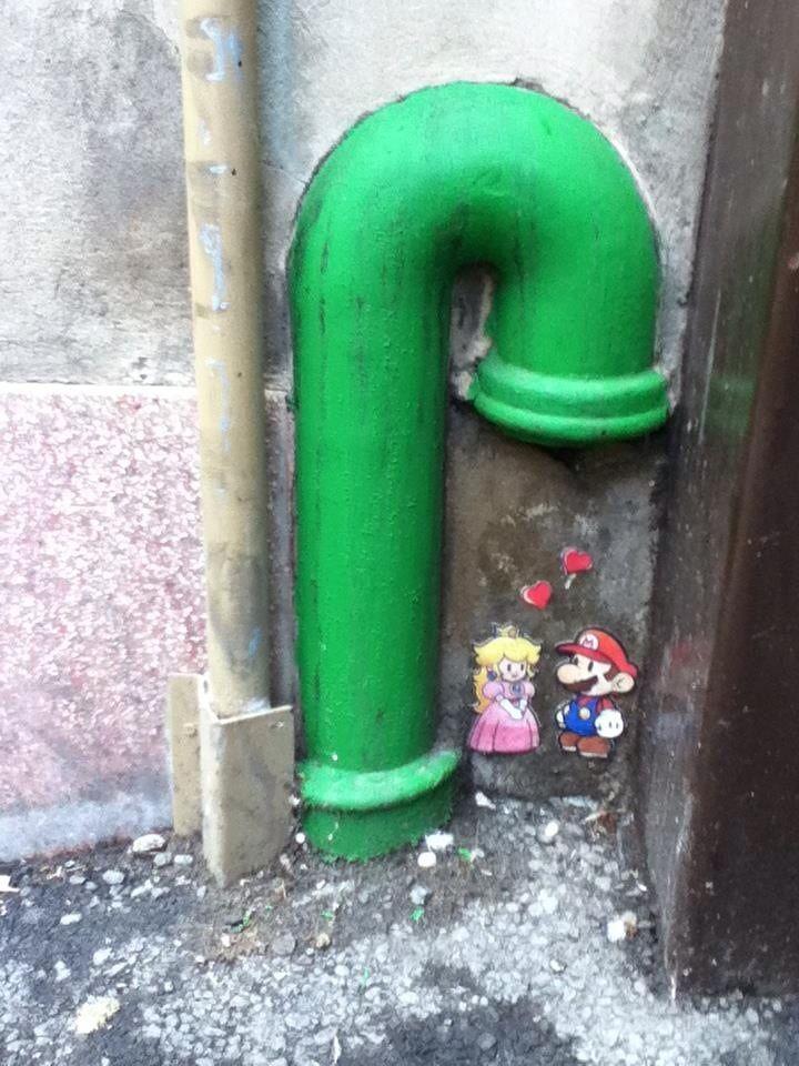 Habe diese Street Art gestern gefunden – super – Art