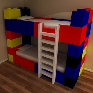Funky Lego bunk beds manufactured to order by our friendly team in Kent - Children's lego themed bedroom furniture from Bedroom Design Inspirations 01303 251184 info@bdikent.co.uk