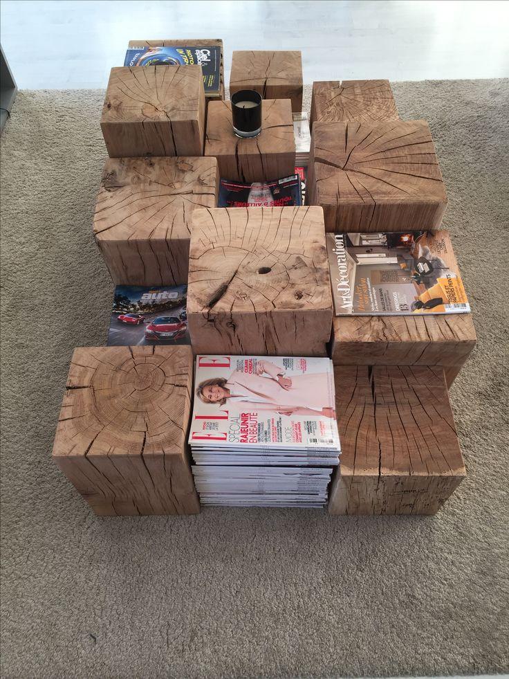 cube en chêne massif , table basse , guéridon , table gigogne, cube bois, bout de canapé, table de chevet