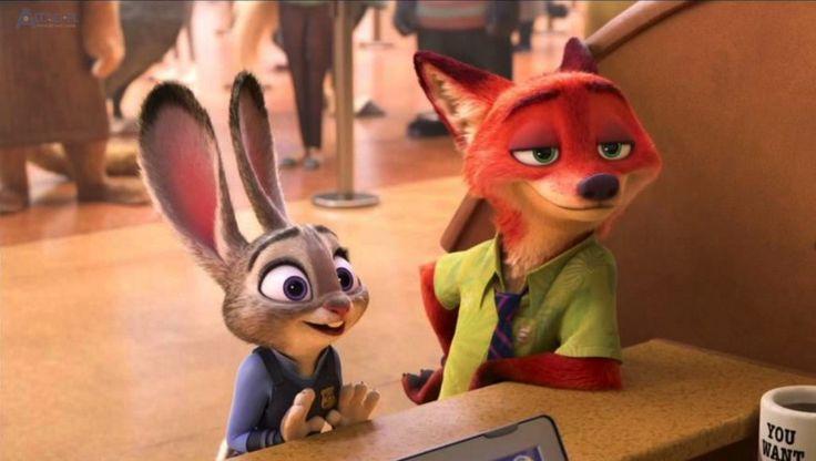 Szczwany lis i głupi królik.