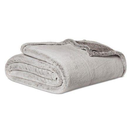 Grey Fuzzy Blanket (Queen) - Threshold™ : Target