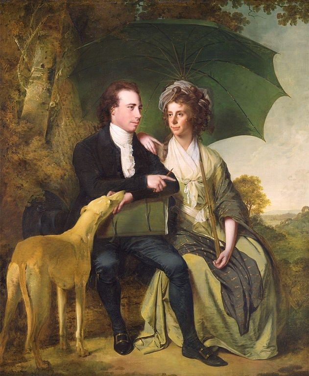 Joseph Wright of Derby, (British artist, 1734-1797),  The Rev. and Mrs Thomas Gisborne, of Leicestershire, 1786