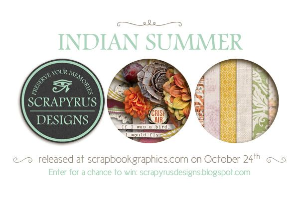New collection from Scrapyrus Designs coming out on Friday ! You can win the papers and elements on the blog.