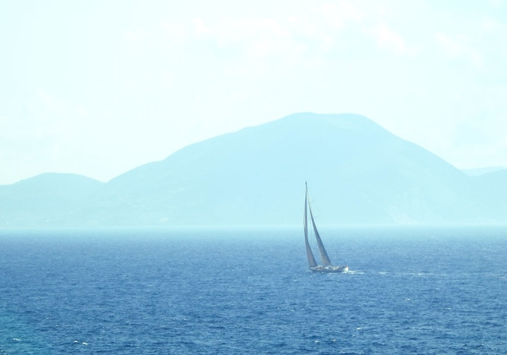 Sailing around beautiful Kefalonia Island (Ionan islands of Greece) with Pete... The skipper of flotilla was an ex Geordie Navy man who had an unhealthy love of drinking 'shots'