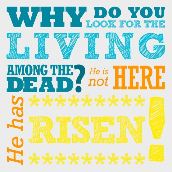 Why Do You Look For The Living Among The Dead He Is Not Here He Has Risen Luke 24 5 6 In