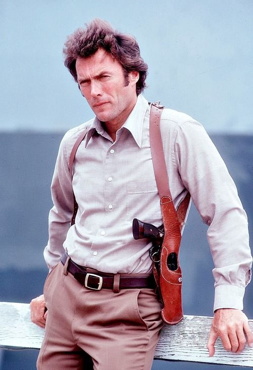 Clint Eastwood photographed by Julian Wasser on the set of Magnum Force, 1973.
