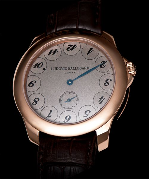Ludovic Ballouard Upside Down 18K RG Manual Wind Available at Cellini Jewelers