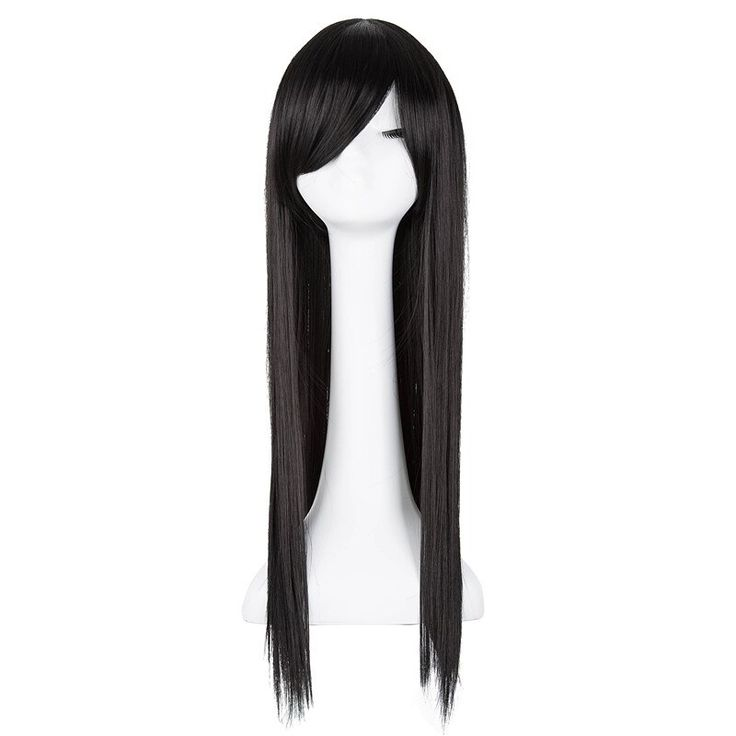 Black Wig Fei-Show Synthetic Heat Resistant Fiber Long Straight Hair Women Femal…