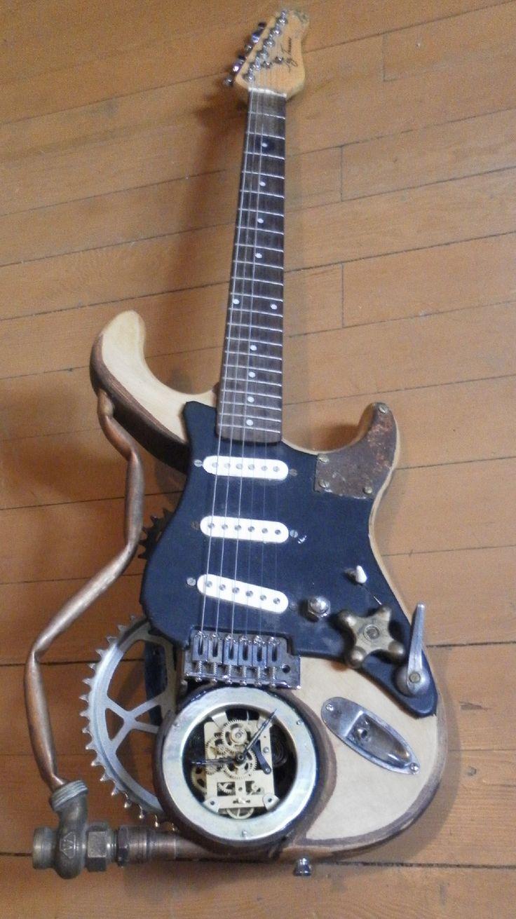 Custom steampunk guitar.