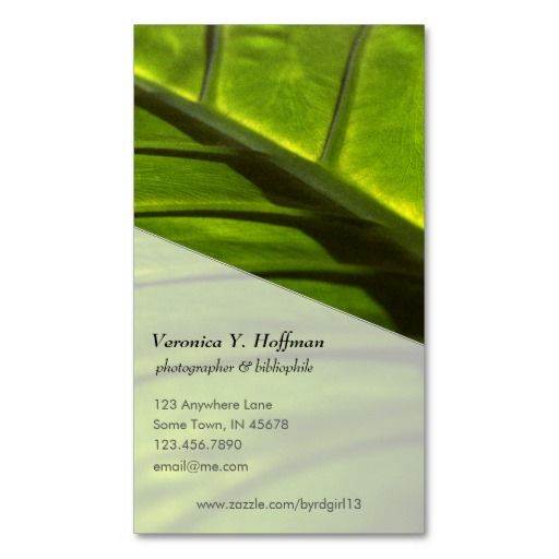 Elephant Leaf Photograph Business Card Template by #vyhphotography