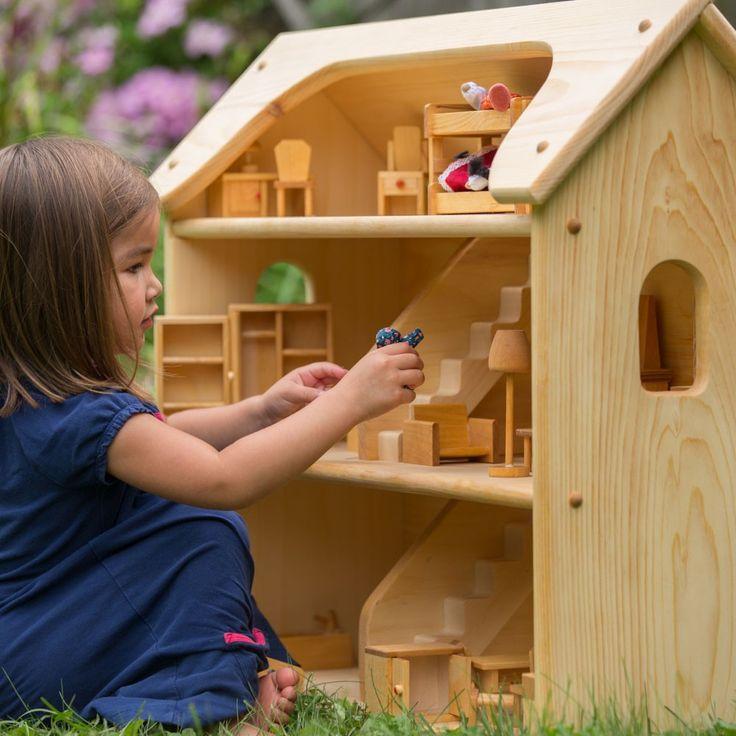 Seri's Wooden Toy Dollhouse - Nova Natural Toys - $199