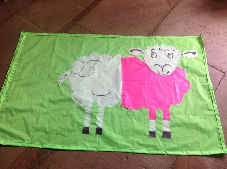 This #PinkSheep was flying high outside Crag House Farm in Danby.
