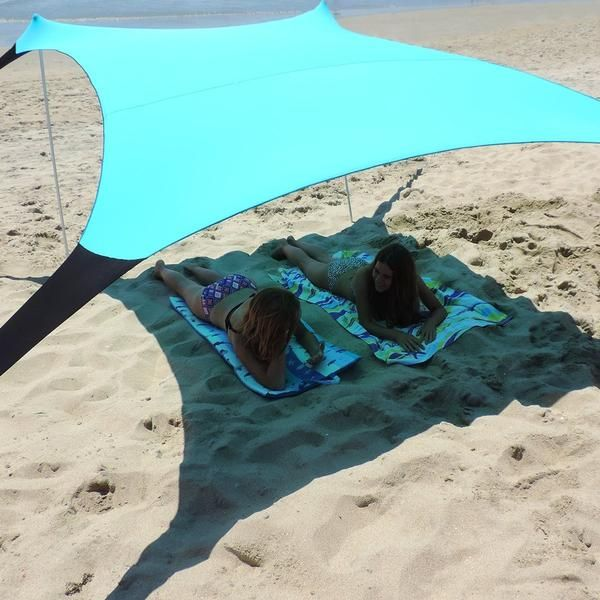 Sol Shade Portable Stretch Fabric Sun Tent Canopy Sand Anchors