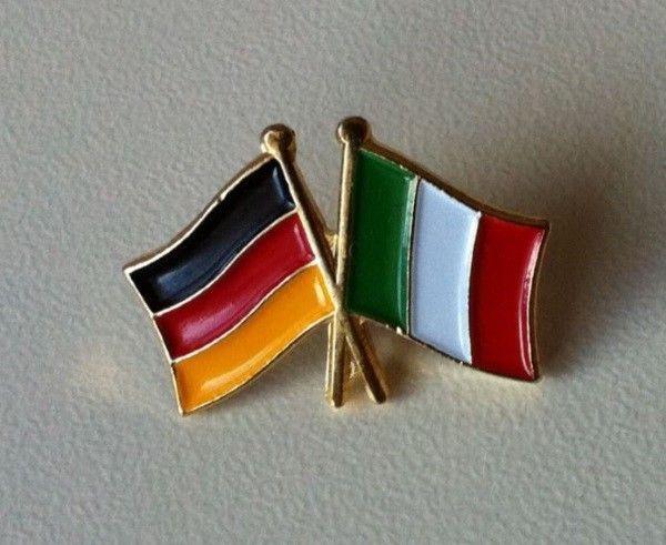 Deutschland und Italien Flaggen Pin Abzeichen hat pin badge [14453]