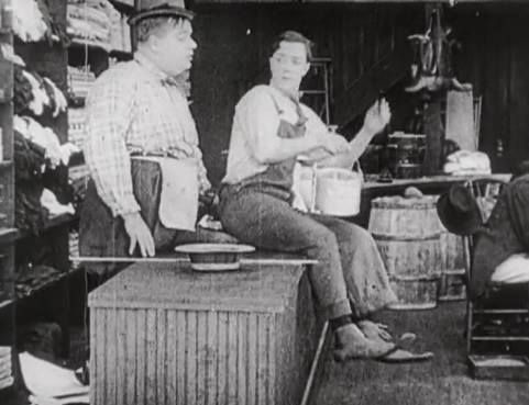 The Butcher Boy 1917 - the famous molasses scene with Roscoe Arbuckle