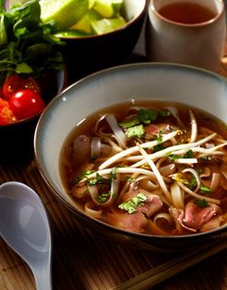 Beef Noodle Soup with Garlic & Ginger