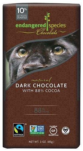 Endangered Species Chocolate's highest cocoa content bar. Can you handle it? Only serious dark chocolate lovers need apply. Walk away from your chocolate enco