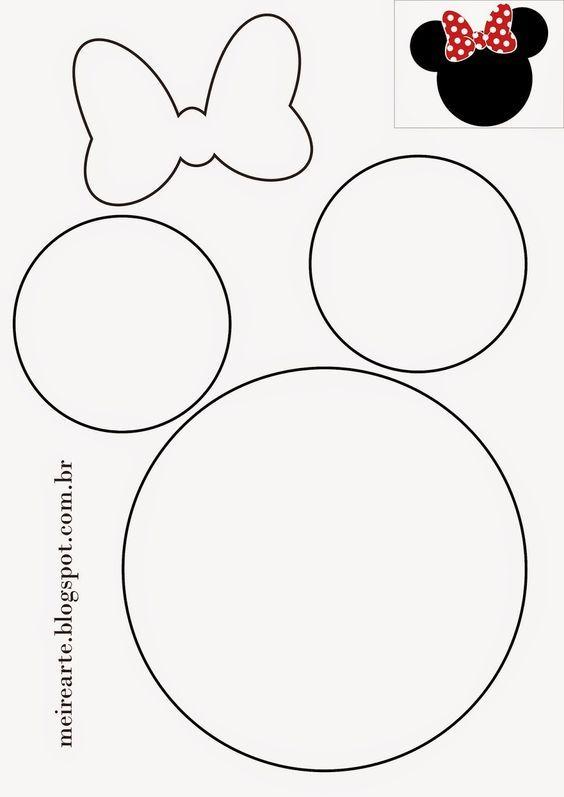 .::Meire Arte: Molde Cabeça da Minnie:                                                                                                                                                     Mais