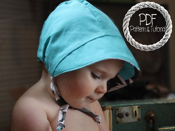 14 best Baby Bonnets images on Pinterest | Babymützen, Nähprojekte ...