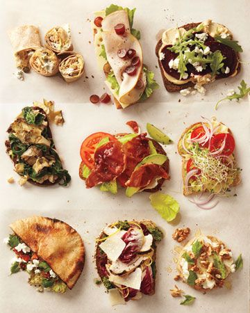 Healthy yummy sandwiches
