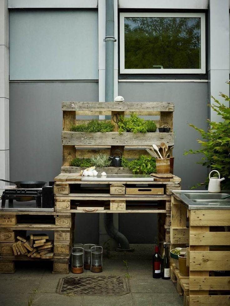 Die Besten 25+ Outdoor Küche Ideen Auf Pinterest Feuerfestes   Kuche Aus Holz  Ideen Module