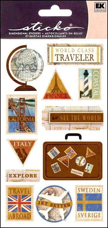 Travel stickers   -- CreateForLess $1.29