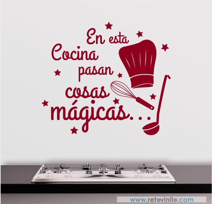 1538 best vinilos decorativos images on pinterest desk for Cosas de cocina