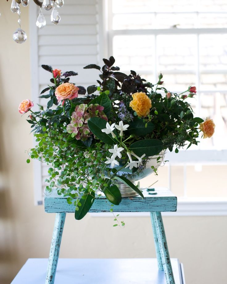 A long lasting floral centerpiece in pottery barn s