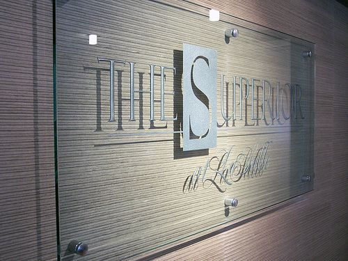 Etched Glass Sign - The Superior by www.impactsigns.com, via Flickr