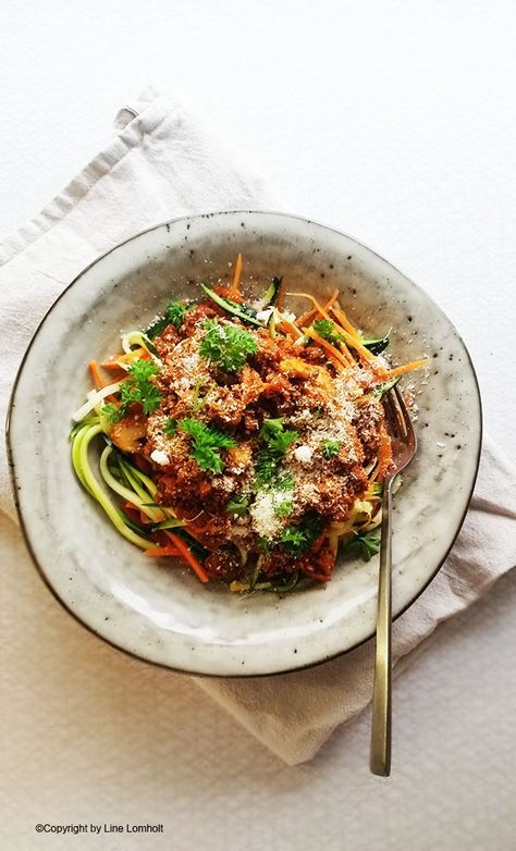 Lowcarb 'spaghetti' med kødsauce