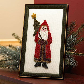 Punch needle Santa--free pattern I just learned how to do punch needle. I love the way it looks. I want to try this Santa.