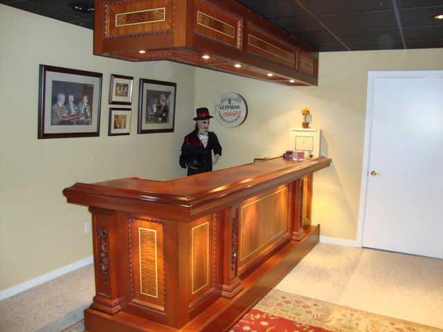 Custom Built Solid Mahogany Bar And