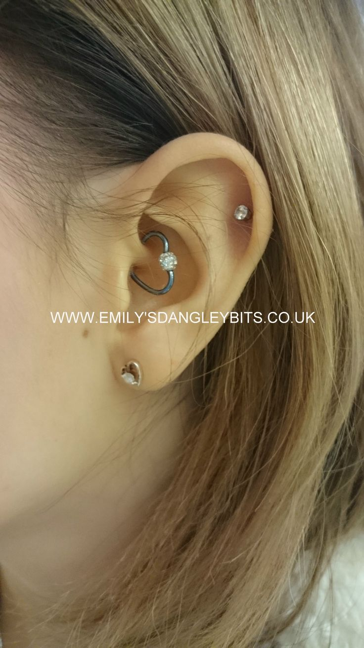 Double sided nose piercing  Pin by Emilyus Dangley Bits on Daith Piercings  Pinterest  Daith