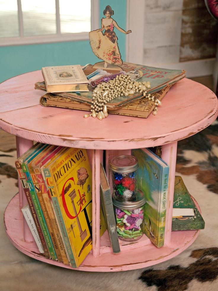 110 best diy stuff for home images on pinterest craft ideas 22 clever ways to repurpose furniture home improvement diy network an industrial wire spindle makes a combo coffee tablebook rack solutioingenieria Images