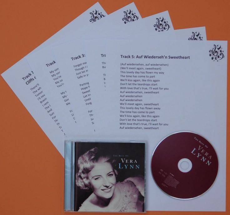 The Best of Vera Lynn CD and Laminated Song Sheets, Dementia Activities
