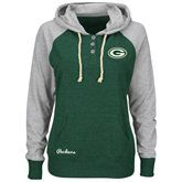 Green Bay Packers Majestic Women's Overtime Madness Pullover Hoodie - Green