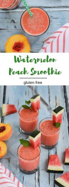 Watermelon Peach Smoothie by Seasonal Cravings