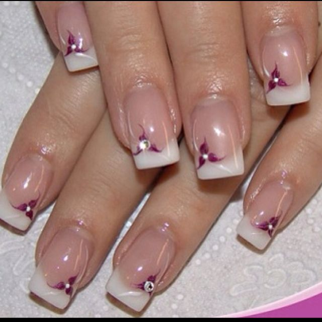 cute: French Manicure Designs, Nails Art Ideas, Nails Ideas, French Manicures Design, Nail Design, Flowers Nails, Nails Art Design, Nail Art, Nails Designs