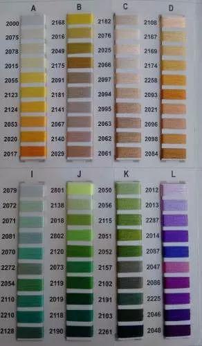 linhas bordar ricamare 4000m- 10 cones consulte cores
