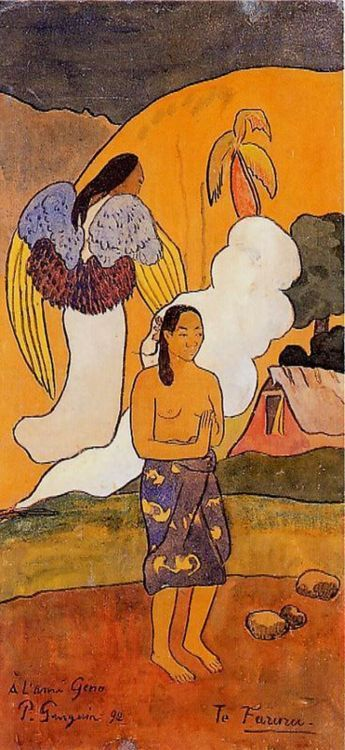 Te Faruru (The Encounter), by Paul Gauguin (1892)........RESIST PINTEREST CENSORSHIP [please add this message to your pins]