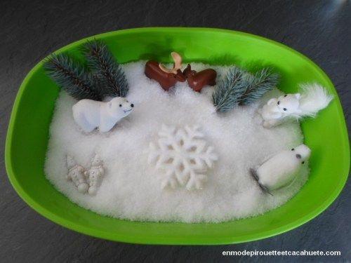 """Mon bac sensoriel """"Au pays du Père Noël"""" http://enmodepirouetteetcacahuete.com/2015/12/18/au-pays-du-pere-noel/"""