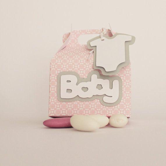 Favor boxes Baby girl / scatolina bomboniera di PickaPack su Etsy