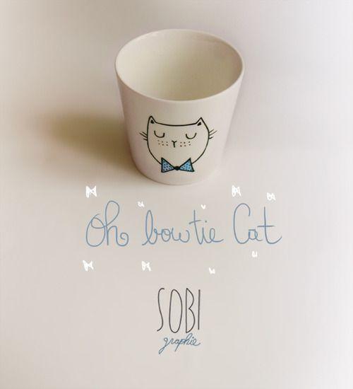 Cup Handpainted and baked,Single modelby Sobi.  ▲▲▲▲▲▲▲▲▲▲▲▲▲▲▲▲▲  Tasse peinte à la main et cuite au four,Modèle unique,by Sobi.