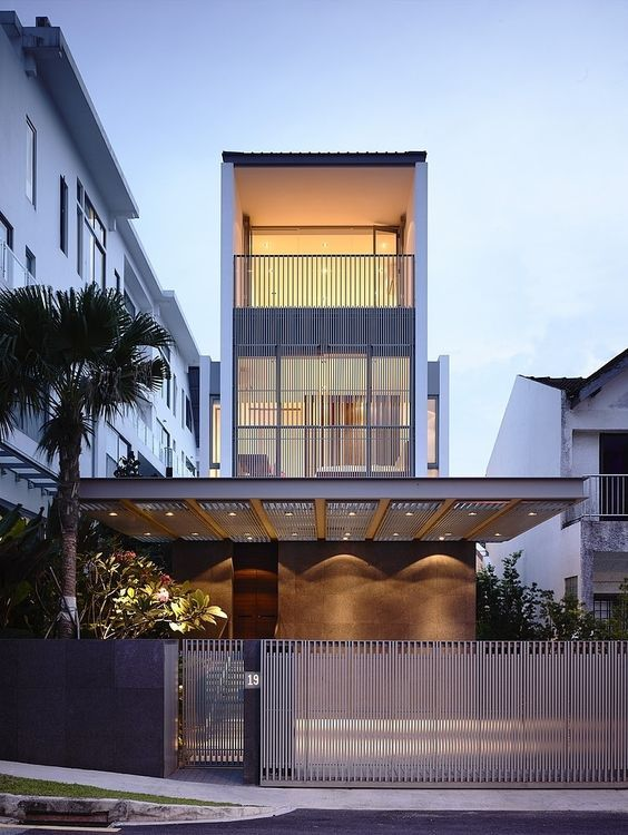 Modern three-storey single family residence in Jalan Angin Laut, Singapore designed in 2012 by HYLA Architects located in Singapore.: